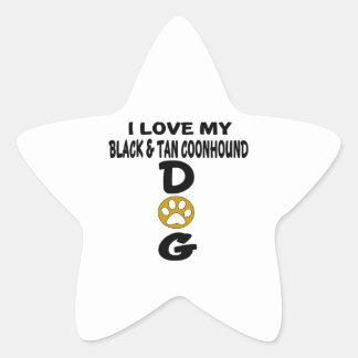 J'aime mes conceptions noires et bronzages de sticker étoile