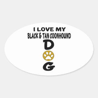 J'aime mes conceptions noires et bronzages de sticker ovale