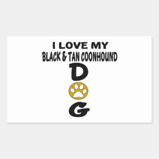 J'aime mes conceptions noires et bronzages de sticker rectangulaire