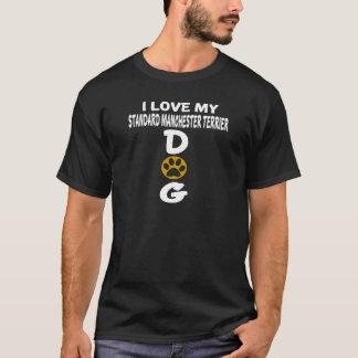 J'aime mes conceptions standard de chien de t-shirt