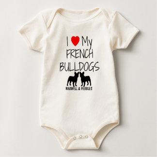 J'aime mes deux bouledogues français body