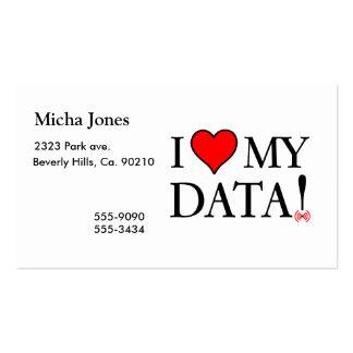 J'aime mes données carte de visite standard
