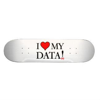 J'aime mes données skateboards