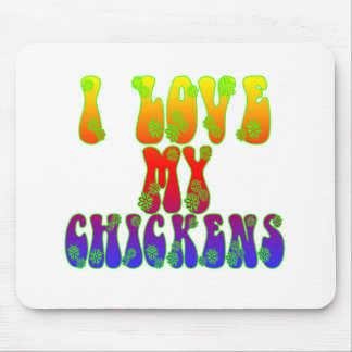 J'aime mes poulets tapis de souris