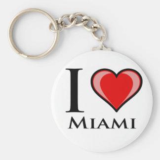 J'aime Miami Porte-clé Rond