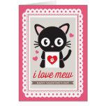 J'aime miaule par la carte pliée par Valentine d'i