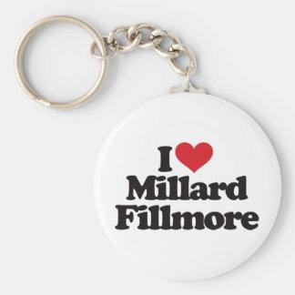 J'aime Millard Fillmore Porte-clé Rond