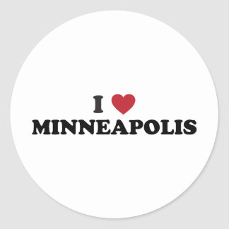 J'aime Minneapolis Minnesota Sticker Rond