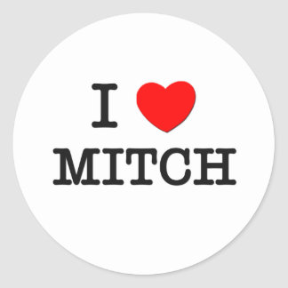J'aime Mitch Sticker Rond