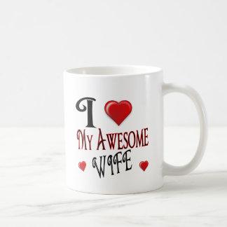 J'aime mon abordable populaire de logo d'épouse mug