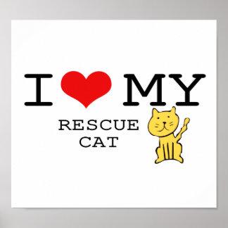 J'aime mon affiche de chat de délivrance