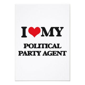 J'aime mon agent de parti politique invitations