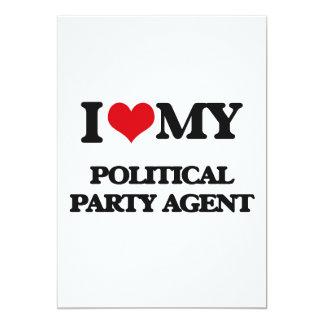 J'aime mon agent de parti politique cartons d'invitation