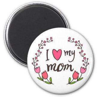 J'aime mon aimant heureux du jour de mère de maman