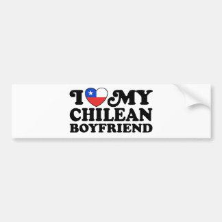 J'aime mon ami chilien autocollant pour voiture