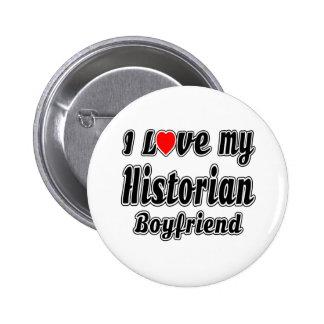 J'aime mon ami d'historien badge rond 5 cm