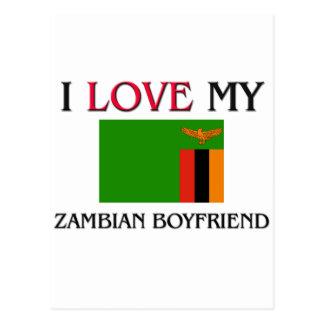J'aime mon ami zambien carte postale