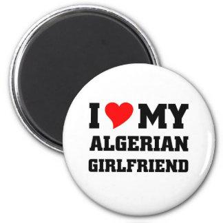 J'aime mon amie algérienne magnet rond 8 cm