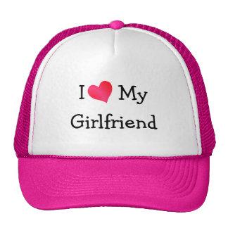 J'aime mon amie casquette de camionneur