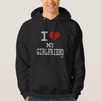 J'aime mon amie sweat-shirts avec capuche