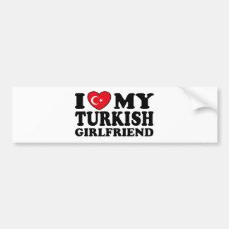 J'aime mon amie turque autocollant pour voiture