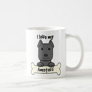 J'aime mon Amstaff Mug