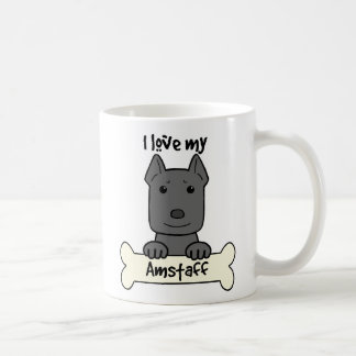 J'aime mon Amstaff Mug Blanc