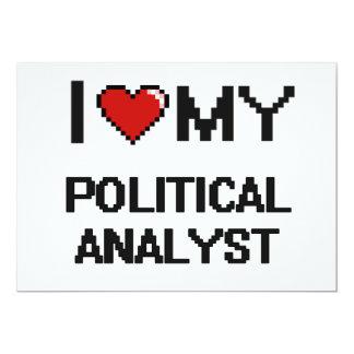 J'aime mon analyste politique carton d'invitation  12,7 cm x 17,78 cm
