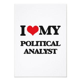 J'aime mon analyste politique invitations personnalisées
