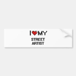 J'aime mon artiste de rue autocollant de voiture