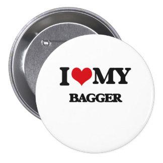 J'aime mon Bagger Badges Avec Agrafe