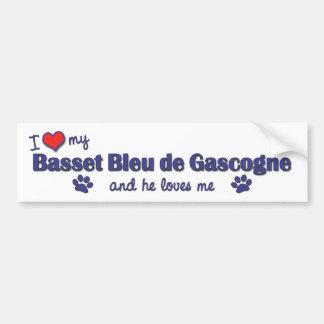 J'aime mon Basset Bleu de Gascogne (le chien mascu Autocollant Pour Voiture