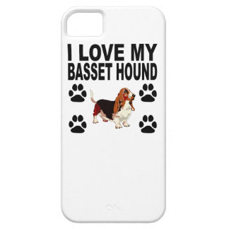 J'aime mon Basset Hound Coque Barely There iPhone 5