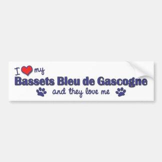 J'aime mon Bassets Bleu de Gascogne (les chiens mu Autocollant De Voiture