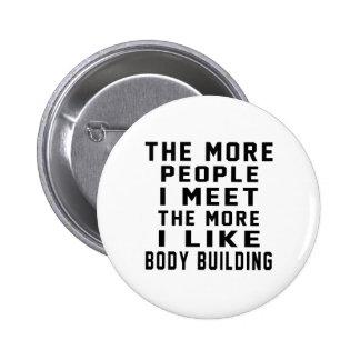 J'aime mon bâtiment de corps badge avec épingle