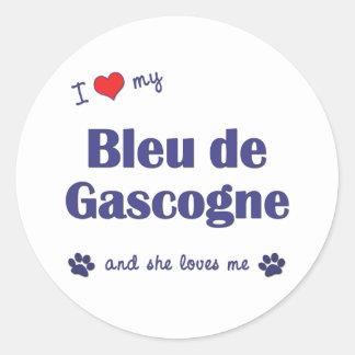 J'aime mon Bleu de Gascogne (le chien femelle) Adhésifs