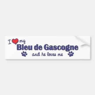 J'aime mon Bleu de Gascogne (le chien masculin) Autocollant De Voiture