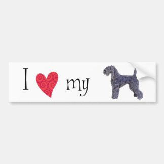 J'aime mon bleu de Kerry Terrier Autocollant De Voiture