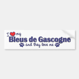 J'aime mon Bleus de Gascogne (les chiens multiples Autocollant De Voiture