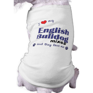 J'aime mon bouledogue anglais se mélange (les chie vêtements pour animaux domestiques