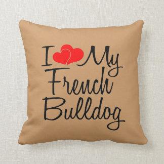 J'aime mon bouledogue français oreillers