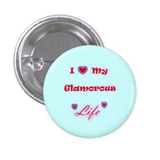 J'aime mon bouton fascinant de coeurs de la vie badges avec agrafe