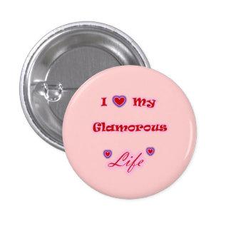 J'aime mon bouton fascinant de coeurs de la vie pin's