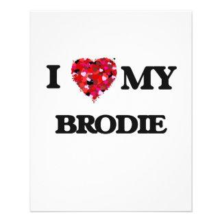 J'aime mon Brodie Prospectus 11,4 Cm X 14,2 Cm