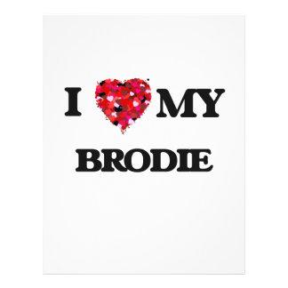 J'aime mon Brodie Prospectus 21,6 Cm X 24,94 Cm