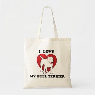 J'aime mon bull-terrier sac en toile