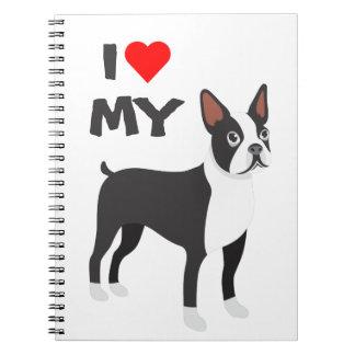 J'aime mon carnet de Boston Terrier