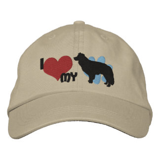 J'aime mon casquette brodé par border collie