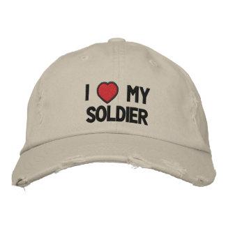 J'aime mon casquette brodé par soldat