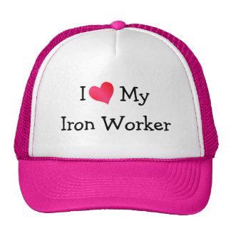J'aime mon casquette de travailleur de fer